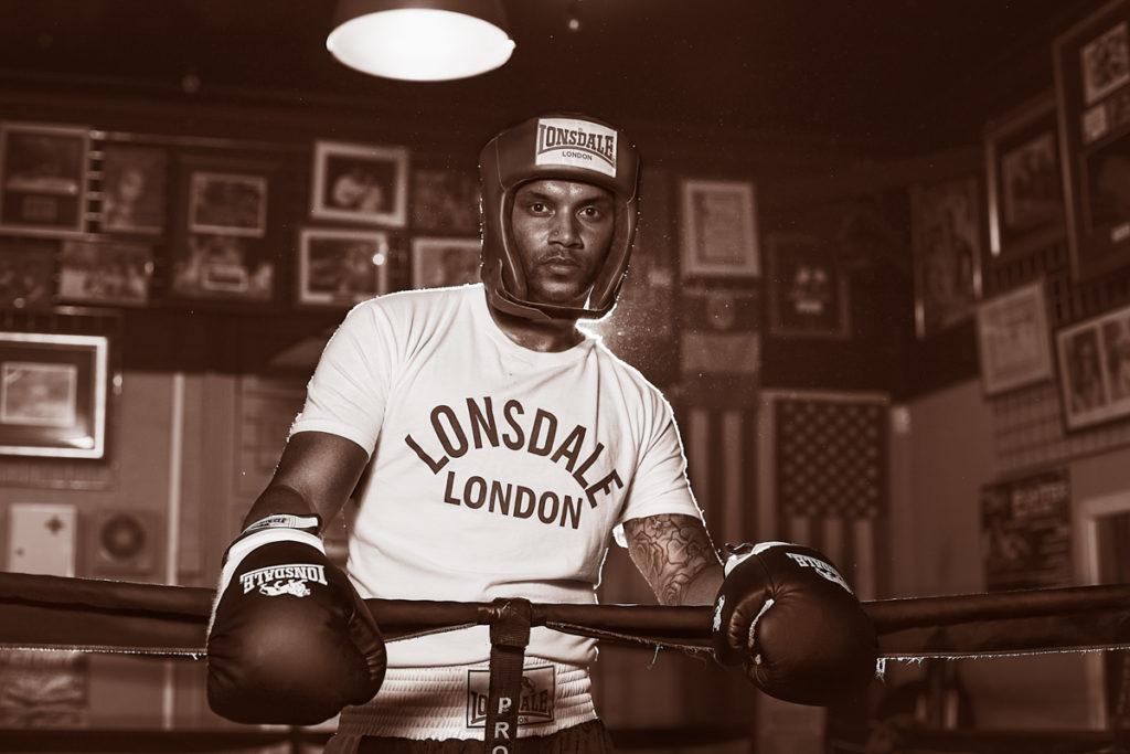 Boxing portrait photo